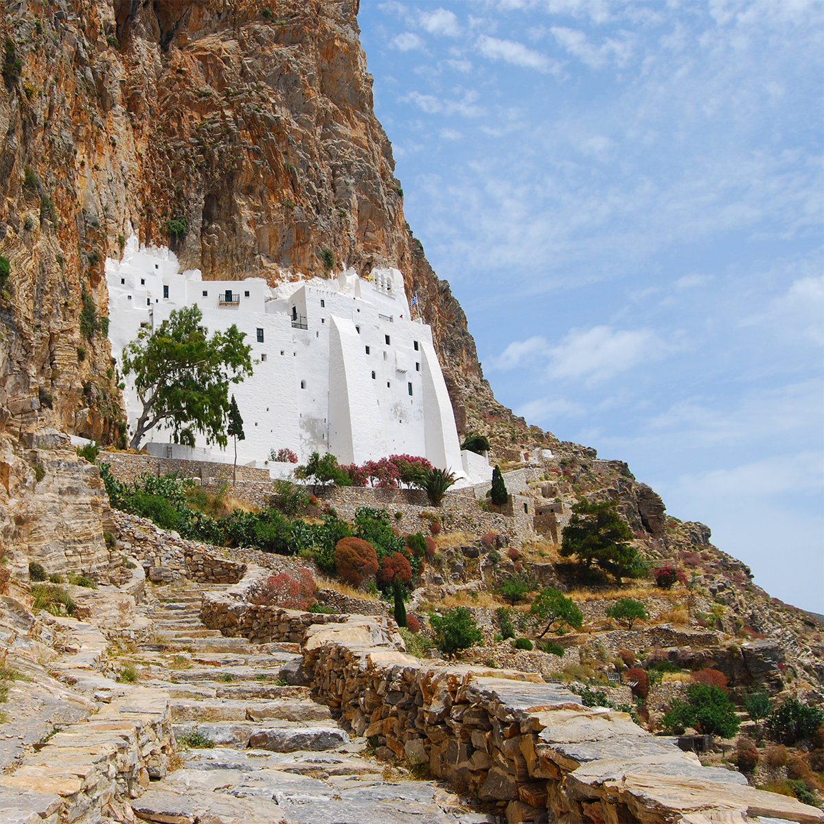 Monastery of Hozoviotissa on Amorgos island Cyclades Greece